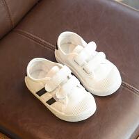 中小童帆布鞋纯色休闲春款潮2018新款童鞋儿童鞋子男童软底女童鞋 白色 KL19FK01