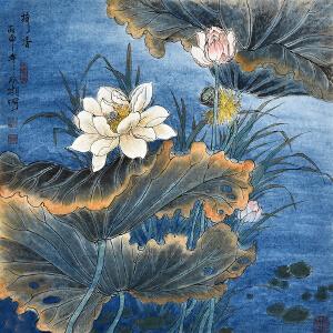 中国书画艺术家创作中心会员    郭双相《荷香》HN5232