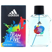 阿迪达斯(adidas) 西班牙 原产 男士香水 冰点男款运动型 持久清新淡香水 Five-五人队限量版-香水100m