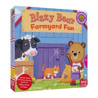 Bizzy Bear 小熊很忙 英文原版图书绘本 Farmyard Fun 开心农场 英语机关书 纸板书 儿童英文原版