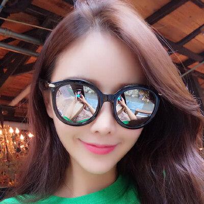 墨镜女潮 眼镜偏光太阳镜女士圆脸复古时尚眼镜 支持礼品卡支付 品质保证 售后无忧 支持货到付款