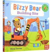 【首页抢券300-100】Bizzy Bear Building Site 小熊很忙系列 建筑工地 儿童英语绘本童谣机关