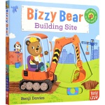 Bizzy Bear Building Site 小熊很忙系列 建筑工地 儿童英语绘本童谣机关书 英文原版图书绘本