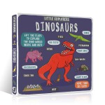 英文原版 小小探险家系列 Little Explorers Dinosaurs Novelty Book 少儿科普恐龙