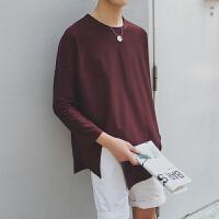 春装套头卫衣长袖男士内搭韩版学生纯色打底衫休闲潮流外套