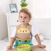 儿童围兜婴幼儿防水硅胶围嘴 口水巾婴儿吃饭兜母婴用品厂家批发