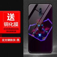 OPPOreno手机壳漫威钢铁侠r11 plus玻璃壳a5蜘蛛侠黑豹潮牌男新款