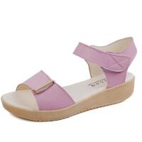 夏季新款凉鞋女鞋子时尚厚底平底女士平跟平底时尚舒适沙滩鞋