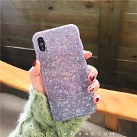 紫色满天星夜空8plus苹果x手机壳XS Max/XR/X/7p软壳女6s套 6/6s 光面紫色漫天星空