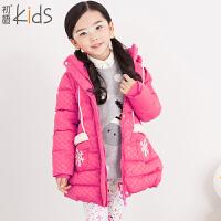 初语童装 冬装新款儿童羽绒服 加厚纯色羽绒服外套 T5409200032