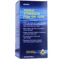 保税区直发 美国GNC健安喜 三倍浓度五倍浓缩深海鱼油 120粒 调节三高
