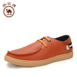骆驼牌男鞋 春夏季新款韩版 休闲鞋平跟系带潮鞋休闲鞋耐磨
