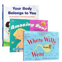 【全店300减110】英文原版生理健康知识启蒙儿童科普3册:Amazing YOU/Your body belongs