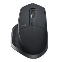 罗技(Logitech)MX Master 2S 鼠标 无线蓝牙鼠标 办公鼠标 右手鼠标 优联 儒雅黑 带无线2.4G