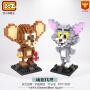 LOZ小颗粒积木益智拼装玩具公仔猫和老鼠杰利9445汤姆猫9446