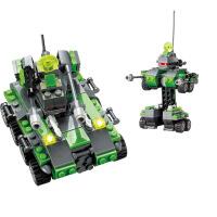 开智 变形机器人系列火箭炮拼装积木益智儿童玩具 KY8017