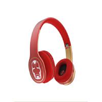 森麦漫威美国队长头戴式耳机蓝牙游戏耳机皮质耳罩电脑耳麦重低音 红色