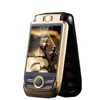 【礼品卡】佰灵通V998 老人手机 2.6英寸翻盖双屏手写震动 QQ微信蓝牙语音老人机