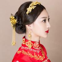 头饰古装发带中式结婚礼秀禾服发饰古风发钗古典配饰品
