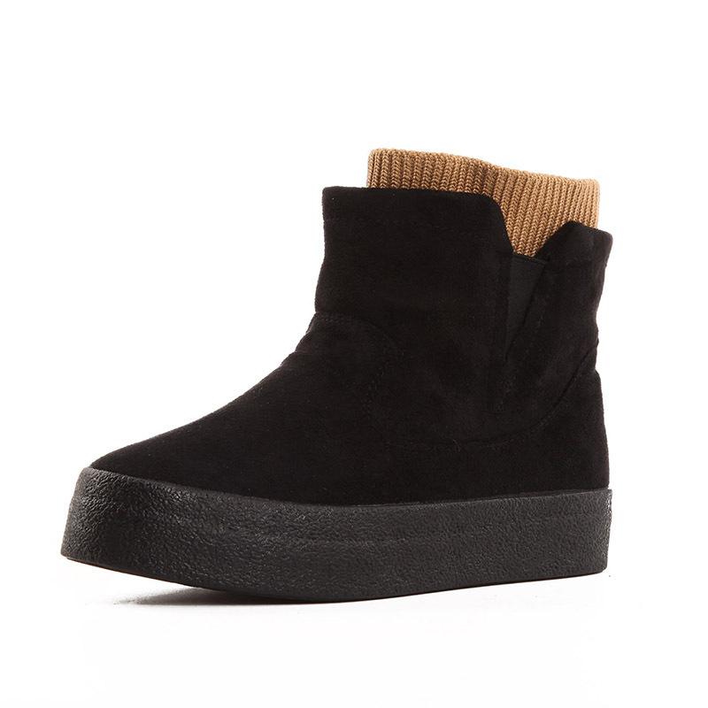 №【2019新款】冬天穿的学生棉靴韩版短靴女短筒休闲雪地靴