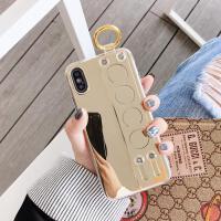 苹果x手机壳iphonexsmax镜面8plus硅胶iPhone7新款6splus手腕带xr