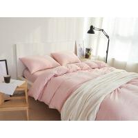 纯色全棉针织棉四件套床上用品天竺棉日式纯棉针织床单被