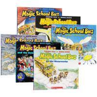 神奇校车系列6册 The Magic School Bus 英文原版绘本 彩绘版 神奇的校巴 儿童科普读物图画书 桥梁书