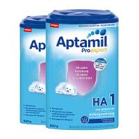 【1段半水解】保税区发货 德国Aptamil爱他美 德爱半水解奶粉HA 一段 (3-6个月) 800g*2罐 海外购