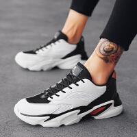 男鞋休闲鞋子男韩版学生小青年厚底增高4.5CM百搭秋冬季白色滑板鞋男士小白鞋运动鞋