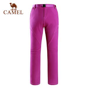 camel骆驼户外速干裤 春夏女款耐磨透气快干裤外出长裤女