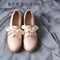 单鞋温柔软妹平底小皮鞋日系洛丽塔学生鞋搭裙子的鞋百搭仙女鞋子