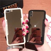 补妆神器 镜子镜面手机壳女生女款硬壳 苹果iPhone6s7 8plus六x6p6sp7p8p i八 7/8通用 黑边框