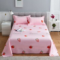 床单宿舍单人床1.2米1.8米斜纹印花床品一件套床上用品 1.0m床 床单120x200cm
