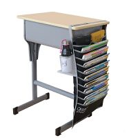 课桌学生挂书袋高中生书袋课桌收纳书立架书本收纳袋书桌挂袋