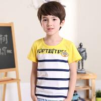 2018春夏季韩版新款男童夏装纯棉短袖百搭中大男童装儿童T恤