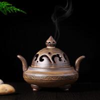 薰香炉 沉香檀香塔香线香用具 窑变香炉 陶瓷青云直上盘香炉