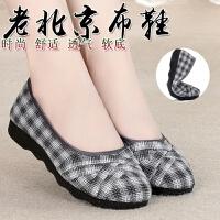 老北京布鞋女款春夏新款软底中年妈妈鞋百搭舒适工作单鞋