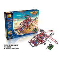 俐智loz电动积木 直升飞机拼插组装模型