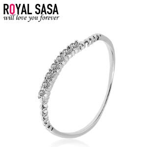 皇家莎莎925银贝珠戒指女开口大小可调指环日韩版复古潮人配饰品