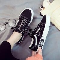 2019秋季新款小黑帆布女鞋韩版百搭学生布鞋春秋板鞋秋款潮鞋秋鞋