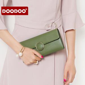【支持礼品卡】DOODOO 手拿包女包包2018新款潮简约韩版时尚百搭气质斜挎链条包女 D7903