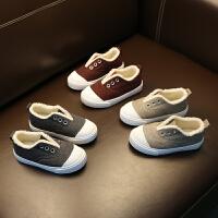 儿童棉鞋男童冬季童鞋一脚蹬布鞋女童二棉鞋子潮