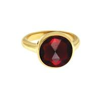 Krystle penza设计师MVintage 宝石系列-热情红色玻璃戒指Passion Ring, Dainty
