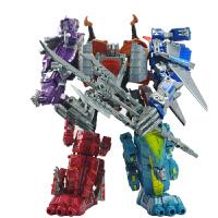 锦江 变形机器人 儿童拼装模型玩具 修罗王机器人 变世恐龙五合一
