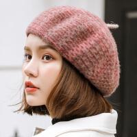 羊毛贝雷帽女秋冬季韩版潮百搭日系软妹蓓蕾可爱英伦休闲南瓜帽子