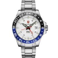 瑞士军表SWISS MILITARY-NAVY海军系列 GMT 双时区 2770 GMT 双时区防水作业表 石英手表男