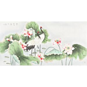 中国书画研究会会员 唐晓静130 X 66CM花鸟画 gh05301