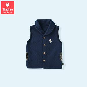 【1件3折价:23.7】纤丝鸟(TINSINO)儿童空气棉马甲男童夹棉加厚背心