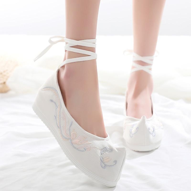 淡雅汉服鞋子女古风百搭汉服搭配的鞋学生汉元素绣花鞋