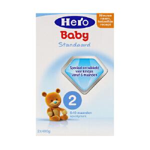 荷兰美素天赋力(Hero Baby)婴幼儿配方牛奶粉2段(10-12个月宝宝)800g一盒装 保质期到18年6月左右